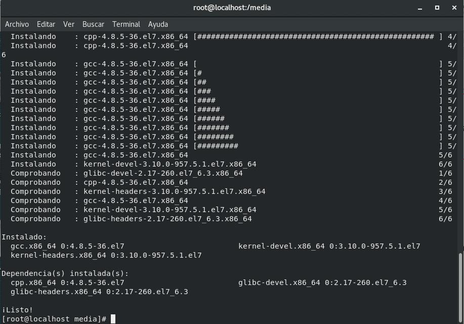 Instalación de paquetes en RHEL 7.6